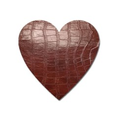 Leather Snake Skin Texture Heart Magnet by Nexatart