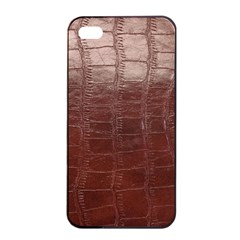 Leather Snake Skin Texture Apple Iphone 4/4s Seamless Case (black)