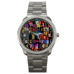 Letters A Abc Alphabet Literacy Sport Metal Watch by Nexatart