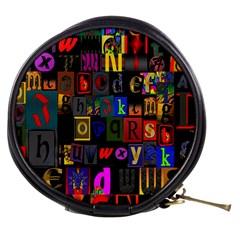 Letters A Abc Alphabet Literacy Mini Makeup Bags by Nexatart