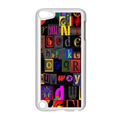 Letters A Abc Alphabet Literacy Apple Ipod Touch 5 Case (white) by Nexatart