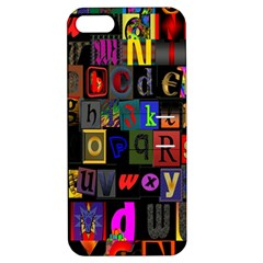 Letters A Abc Alphabet Literacy Apple Iphone 5 Hardshell Case With Stand by Nexatart