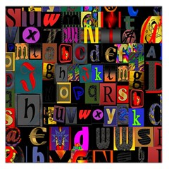 Letters A Abc Alphabet Literacy Large Satin Scarf (square) by Nexatart