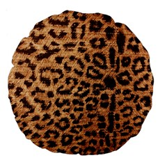 Leopard Print Animal Print Backdrop Large 18  Premium Flano Round Cushions by Nexatart