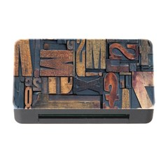 Letters Wooden Old Artwork Vintage Memory Card Reader With Cf by Nexatart