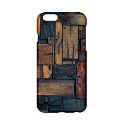 Letters Wooden Old Artwork Vintage Apple Iphone 6/6s Hardshell Case