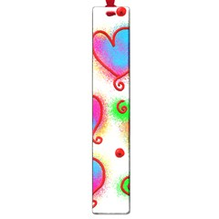 Love Hearts Shapes Doodle Art Large Book Marks by Nexatart