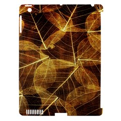 Leaves Autumn Texture Brown Apple Ipad 3/4 Hardshell Case (compatible With Smart Cover) by Nexatart