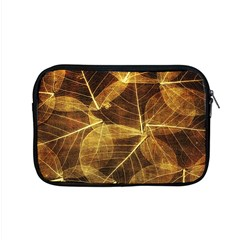 Leaves Autumn Texture Brown Apple Macbook Pro 15  Zipper Case by Nexatart