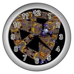 Machine Gear Mechanical Technology Wall Clocks (silver)  by Nexatart