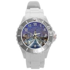 London Travel Round Plastic Sport Watch (l)