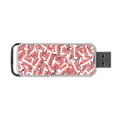 Merry Christmas Xmas Pattern Portable Usb Flash (two Sides) by Nexatart