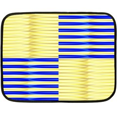 Metallic Gold Texture Double Sided Fleece Blanket (mini)  by Nexatart