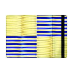 Metallic Gold Texture Ipad Mini 2 Flip Cases by Nexatart