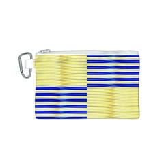 Metallic Gold Texture Canvas Cosmetic Bag (s) by Nexatart