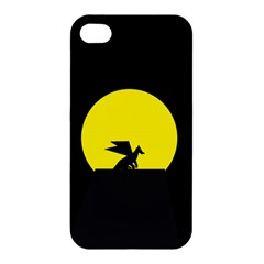 Moon And Dragon Dragon Sky Dragon Apple Iphone 4/4s Hardshell Case
