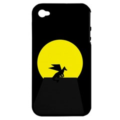Moon And Dragon Dragon Sky Dragon Apple Iphone 4/4s Hardshell Case (pc+silicone) by Nexatart