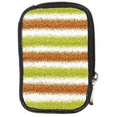 Metallic Gold Glitter Stripes Compact Camera Cases by Nexatart