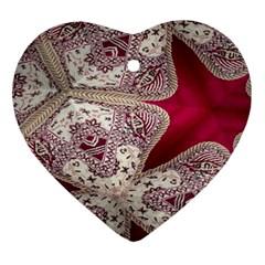 Morocco Motif Pattern Travel Ornament (heart) by Nexatart