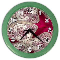 Morocco Motif Pattern Travel Color Wall Clocks by Nexatart