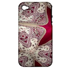 Morocco Motif Pattern Travel Apple Iphone 4/4s Hardshell Case (pc+silicone) by Nexatart