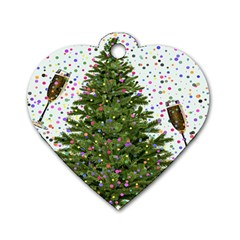 New Year S Eve New Year S Day Dog Tag Heart (Two Sides)
