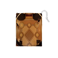 Mosaic The Elaborate Floor Pattern Of The Sydney Queen Victoria Building Drawstring Pouches (small)  by Nexatart