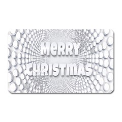 Oints Circle Christmas Merry Magnet (rectangular) by Nexatart