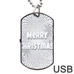 Oints Circle Christmas Merry Dog Tag Usb Flash (one Side) by Nexatart