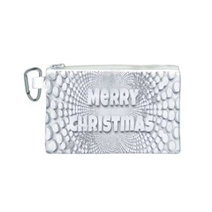 Oints Circle Christmas Merry Canvas Cosmetic Bag (s)