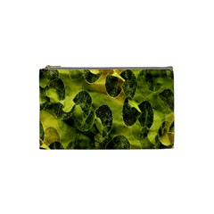 Olive Seamless Camouflage Pattern Cosmetic Bag (small)  by Nexatart