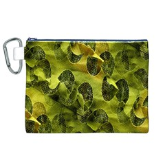 Olive Seamless Camouflage Pattern Canvas Cosmetic Bag (XL) by Nexatart