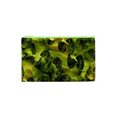 Olive Seamless Camouflage Pattern Cosmetic Bag (xs) by Nexatart