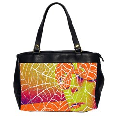 Orange Guy Spider Web Office Handbags (2 Sides)  by Nexatart
