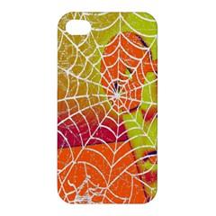 Orange Guy Spider Web Apple Iphone 4/4s Premium Hardshell Case by Nexatart