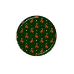 Paisley Pattern Hat Clip Ball Marker (4 Pack) by Nexatart