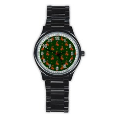 Paisley Pattern Stainless Steel Round Watch by Nexatart