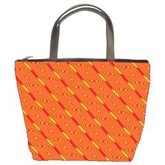 Orange Pattern Background Bucket Bags by Nexatart