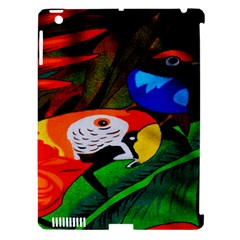 Papgei Red Bird Animal World Towel Apple Ipad 3/4 Hardshell Case (compatible With Smart Cover) by Nexatart