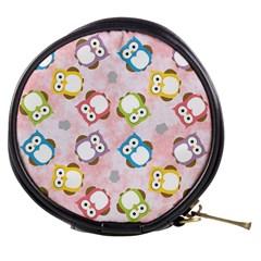 Owl Bird Cute Pattern Mini Makeup Bags by Nexatart