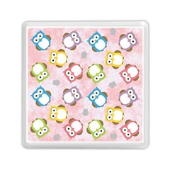 Owl Bird Cute Pattern Memory Card Reader (square)  by Nexatart