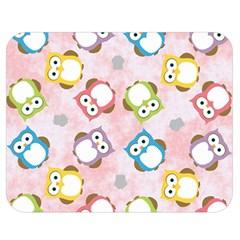 Owl Bird Cute Pattern Double Sided Flano Blanket (medium)