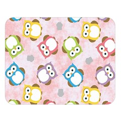 Owl Bird Cute Pattern Double Sided Flano Blanket (large)