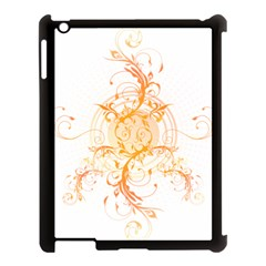 Orange Swirls Apple Ipad 3/4 Case (black) by SheGetsCreative
