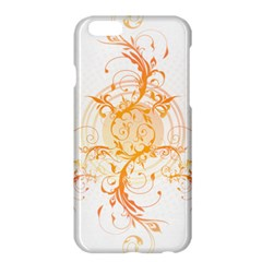 Orange Swirls Apple Iphone 6 Plus/6s Plus Hardshell Case by SheGetsCreative