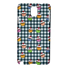 Cupcakes Plaid Pattern Samsung Galaxy Note 3 N9005 Hardshell Case by Valentinaart