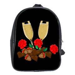 Valentine s Day Design School Bags (xl)  by Valentinaart