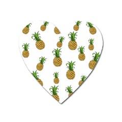 Pineapples Pattern Heart Magnet by Valentinaart