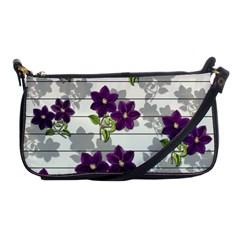 Purple Vintage Flowers Shoulder Clutch Bags by Valentinaart