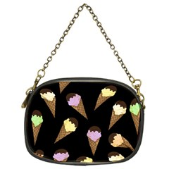 Ice Cream Cute Pattern Chain Purses (one Side)  by Valentinaart